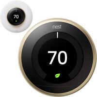 Google Nest Learning Smart Thermostat 3rd Gen Brass T3032US + elago Wall Plate