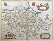 1646 - Original Antique Map WALES DENBIGHSHIRE FLINTSHIRE by BLAEU (LM5)