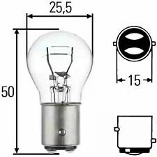 Bulb 12V 21/5W 8GD002078-121 by Hella - 4 Units