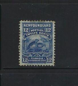 NEWFOUNDLAND - #69 - 12c WILLOW PTARMIGAN USED STAMP