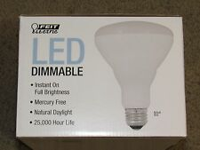 2 Day Light LED Feit BR30 Flood Dimmable Light Bulb 650 Lum 65W Use 9.5W