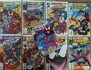 AMAZING SPIDER-MAN MAXIMUM CARNAGE lot of 9 with First App SHREIK 1993 VF- NM