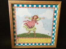 New ListingMary Engelbreit 12.5� X 12.5� framed & glass young girl (red hair) and a quote