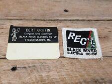 Vintage Bert Griffin Supervisor Black River Electric Tag & Patch Fredericktown