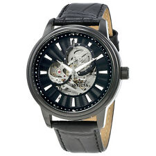 Invicta Vintage Automatic Black Skeleton Dial Mens Watch 22580
