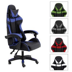 Silla Gaming PC Videojuegos Racing Oficina Escritorio Despacho Sillon Gamer