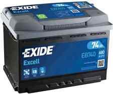 EB740 3 Year Warranty Exide Battery 74AH 680CCA W067SE Type 067