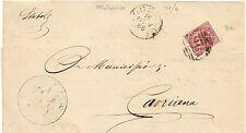 P4450    Mantova, PEGOGNAGA numerale a sbarre 1886