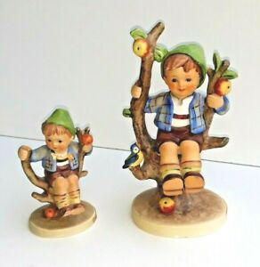 Two Vintage Hummel Figurines  - Both 'Apple Tree Boy' Different Sizes Damaged