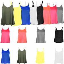 Unbranded Women's No Pattern Hip Length Vest Top, Strappy, Cami Tops & Shirts