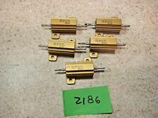 Lot Of 5 Dale Rh 25 25 Ohm 25w 1 Aluminum Power Resistor New