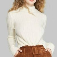 Wild Fable Women's  Mock Turtleneck Cream Sweater X-Small