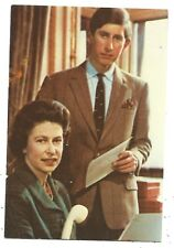 ROYALTY - QUEEN ELIZABETH II & PRINCE CHARLES Postcard