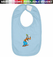 Confused Head Scratch Goofy Infant Baby Bib Cotton Hook & Loop Closure Gift Cute
