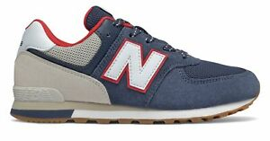 New Balance Kid's 574 Sport Pack Big Kids Male Shoes Blue with Grey
