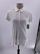 Lilly Pulitzer Woman's LG Trophy Polo Shirt Short Sleeve White NWT