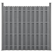 neu.holz WPC Gartenzaun Sichtschutz Windschutz Lamellenzaun Zaun 180x180cm Grau