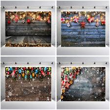 Feliz Navidad fotografía fondo de madera de utilería foto de familia telón de fondo de estudio