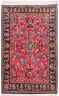 Hand Knotted Wool Red Tribal Saveh Nomadic Oriental Area Rug 5 x 7