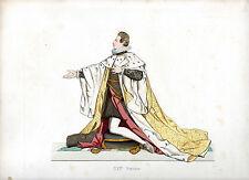 Ancienne gravure rehaussée or - Cosme II de Medicis COSIMO II - Duplessis - 1867