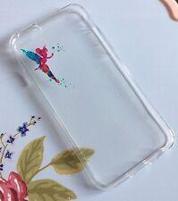 Teléfono móvil iPhone 7 silicio suave Gel caso Tinkerbell Disney Navidad Peter Pan
