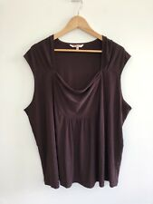 Fitting Image Women's Size 24 Sleeveless Top Brown Stretchy Plus Size