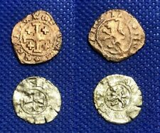 024  MEDIEVAL FRANKISH CRUSADES  - JAMES II / HENRY II - LOT  OF 2  COINS