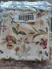 Longaberger Small Waste Basket Liner Botanical Fields fabric MINT FREE SHIPPING!