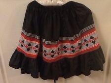 Vintage Seminole Indian Skirt Patchwork Rick Rack