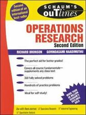 Schaum's Outline Of Operations Research: By Richard Bronson, Govindasami Naad...