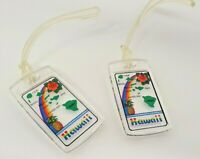 Set of 2 Vintage Hawaii Plastic Luggage Tag