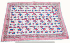 """Indian Kantha Baby Quilt Cotton Blanket Fish Print Toddler Bedspread 40X40"""" Size"""