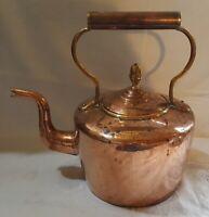 Copper vintage Georgian antique large fireplace kettle
