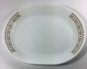 "Corelle Ginger Brown Summer Impressions 12"" x 10"" Serving Platter"