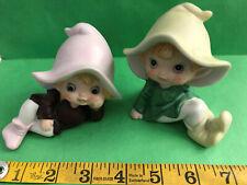 Vintage Homeco Ceramic Figures Lot Of 2 Pixie Elf 5213