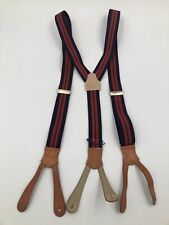 POLO RALPH LAUREN Classic Look Suspenders - Blue Red Green Striped - Braces