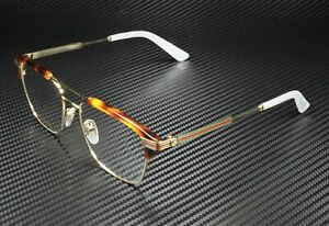 GUCCI GG0241O 001 Rectangular Square Gold Demo Lens 54 mm Men's Eyeglasses
