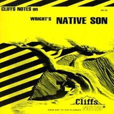 "Cliffs Notes for Richard Wright's Novel ""Native Son"""