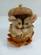 Charming Tails Acorn Built For Two Mouse Figurine Fall Fitz Floyd