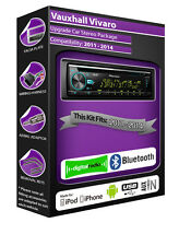 Vauxhall Vivaro DAB radio, Pioneer stereo CD USB AUX input player, Bluetooth kit