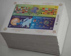 2005 Bosnien & Herzegowina; 500 Blocks Europa gezähnt, **/MNH, Bl. 27 A, ME 5000
