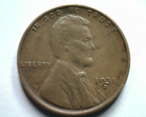 1931-S LINCOLN CENT PENNY CHOICE ABOUT UNCIRCULATED CH. AU NICE ORIGINAL COIN