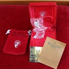 Waterford Crystal Millenium Angels Fellowship Christmas Ornament w/ Case Glass