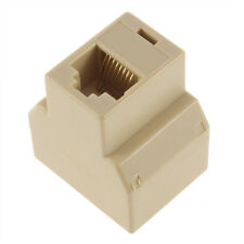 RJ45 CAT5 Ethernet Cable LAN Port 1 to 2 Socket Splitter Connector Adapter AU