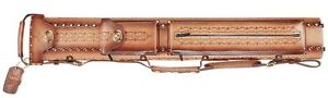 WIN LC24EN-9 2x4  Tooled Leather Pool Cue Case w/ FREE Shipping