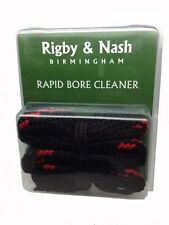 Rigby & Nash 12G Shotgun Rapid Bore Cleaner / Bronze Brush & Swab Snake Type