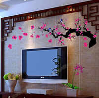 PLUM BLOSSOM FLOWER TREE Wall Stickers Art Decal Vinyl Removable Kids Room Decor