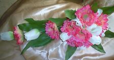 BRIDES BEAUTIFUL LONG  BOUQUET TULIPS/GERBERAS