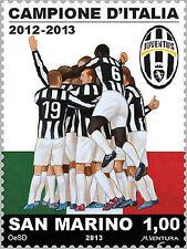 Francobollo  JUVE commemorativo JUVENTUS Campione D'Italia 2012/2013 San Marino