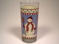 Sakura 1998 Debbie Mumm Snowman Snowmen Tumbler Glass Christmas Winter Snow